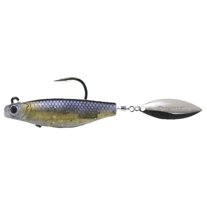 DARTSPIN PRO INT WGHT 2 1/2 - BLACK SHINER/SILVER