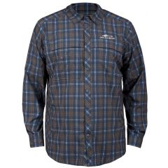 FLY BRIDGE LONG SLEEVE - DARK SLATE PLAID