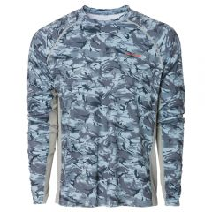 SOLSTRALE LONG SLEEVE CREW SHIRT - DARK SLATE CAMO