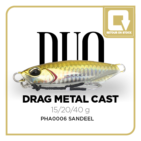 DRAG METAL CAST SLOW 15g - PHA0006 SANDEEL
