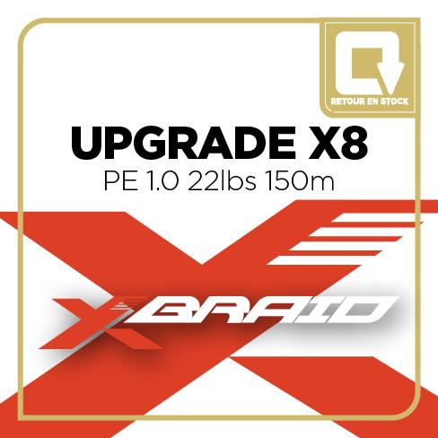 X BRAID X006 UPGRADE X8 PE 1.0 22lbs - 150m